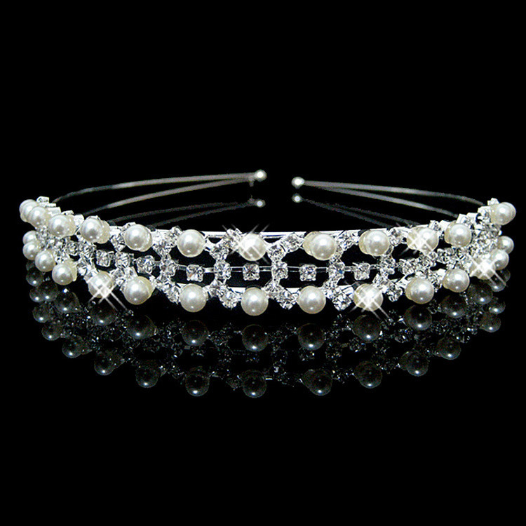 Pearl Geometric Tiara Bridal Headpeice
