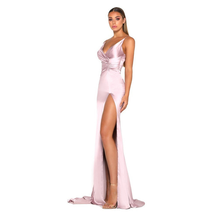 Hugo Gown Satin Mauve by Portia & Scarlett