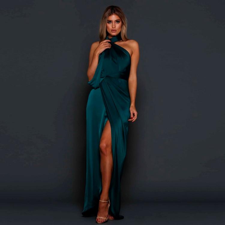 William Emerald Green Dress Elle Zeitoune