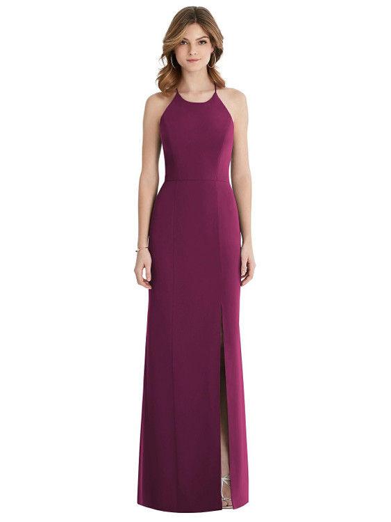 Criss Cross Open-Back Chiffon Trumpet Gown By After Six Bridesmaid 1512 in 37 colors