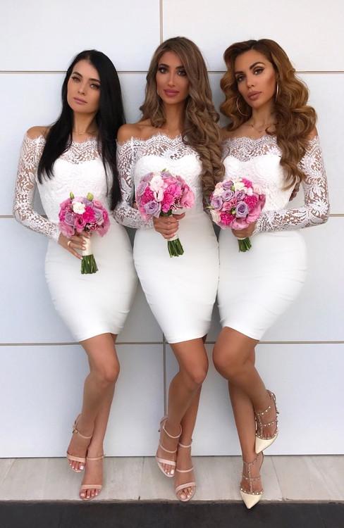4eddcf39211 Cocktail Length Bridesmaid Dresses