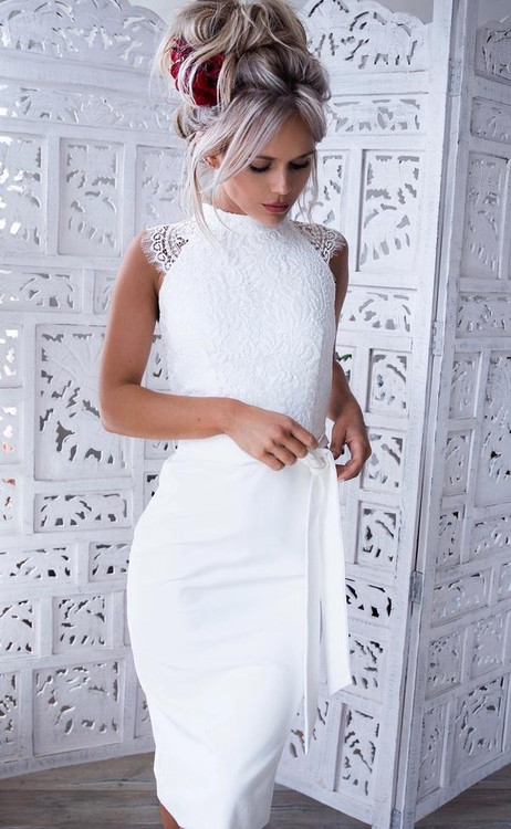 Ericka Dress By Miss Holly White