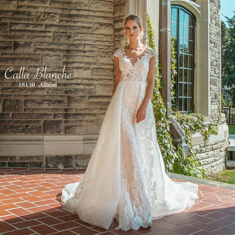 Vintage Lace Wedding Dress Alison By Calla Blanche Bridal,Short White Dress Wedding