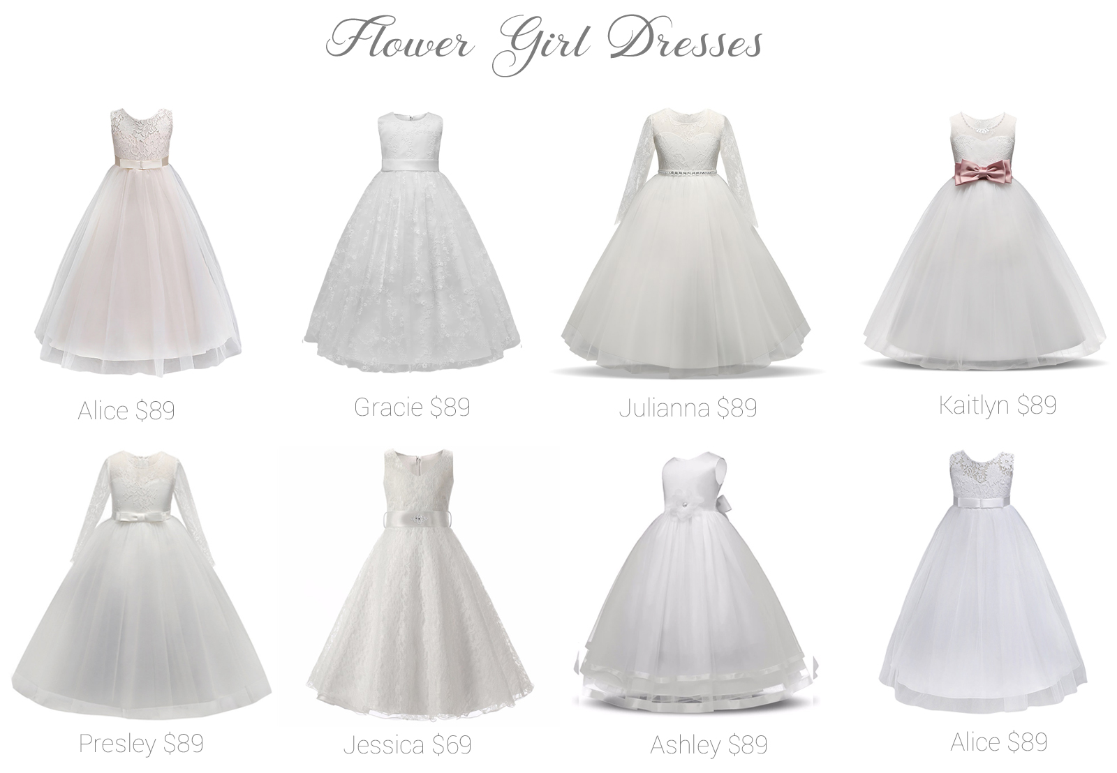 4bd8724cdeb3f Flower Girl Dresses! Shop online and in store! - Fashionably Yours