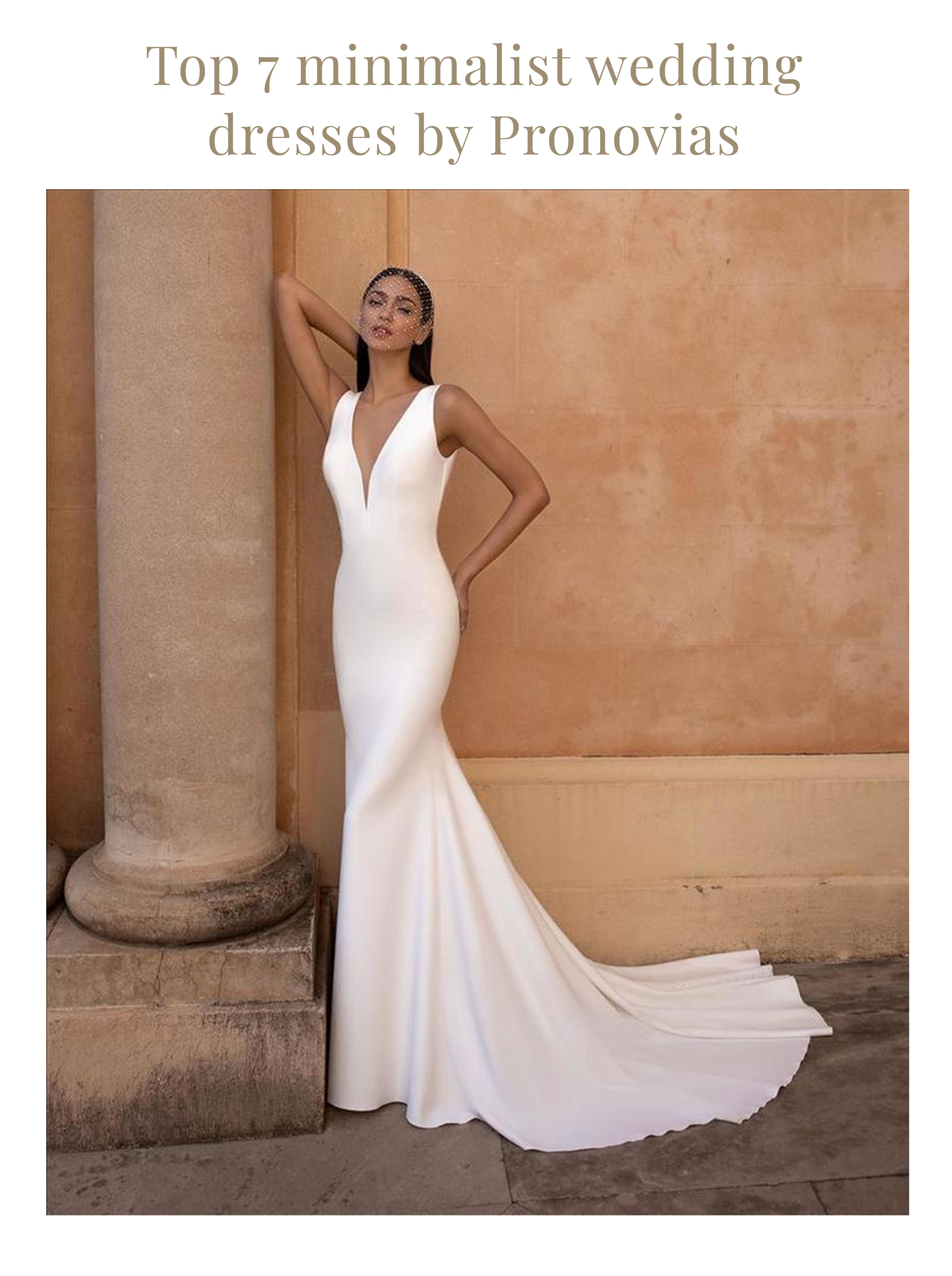 Top 20 Minimalist Wedding Dresses by Pronovias   Fashionably Yours ...