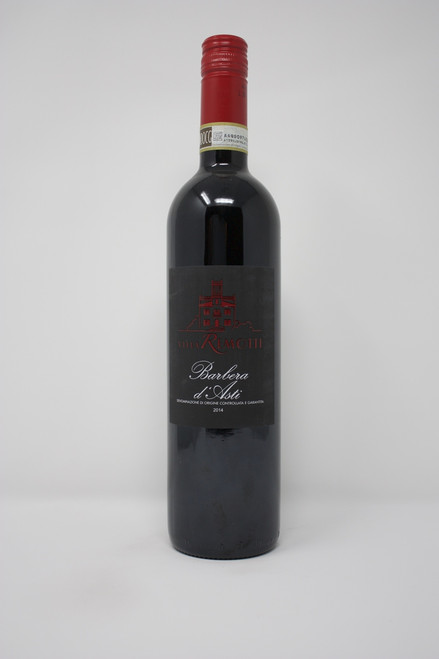 Barbara D'Asti  Villa Remonti 2014  100% Barbara This wine has intense aromas of dark berries and plums, the palate is full and harmonious with integrated tannins and persistent finish. Enjoy with beef, short ribs, sharp cheese, savory risotto and ravioli.