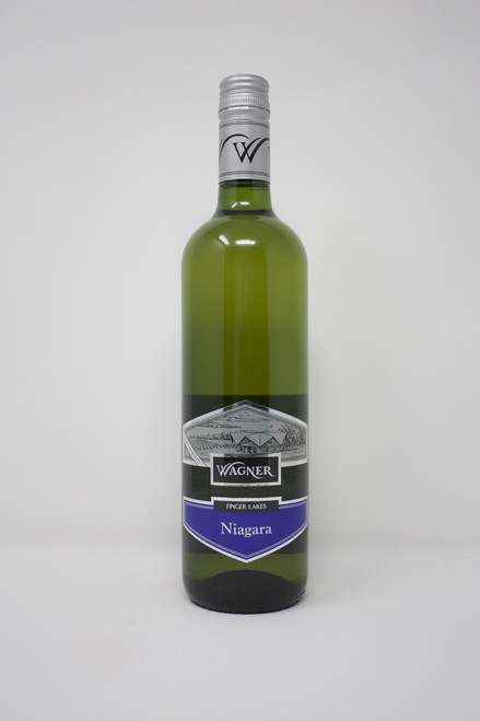 Niagara Wagner Finger Lakes NY Aromatic and fruity, this native American varietal has a exceptionally smooth finish. Sweet, crisp and refreshing taste can be enjoy as an aperitif with   fruits and dry cheese.