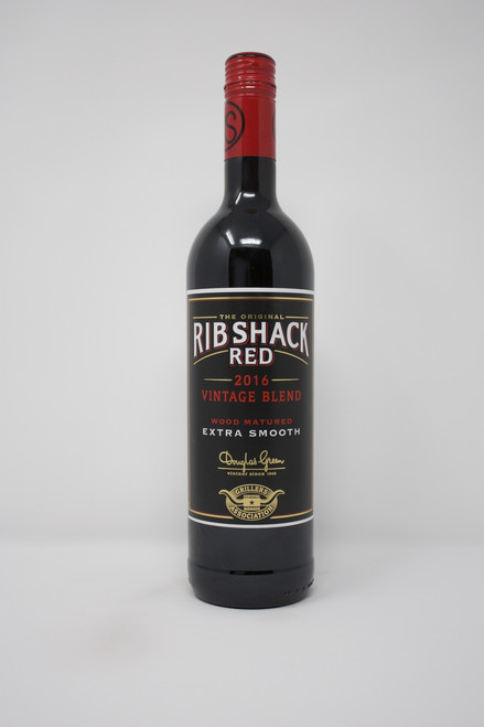 Rib Shack 2016 Pinotage; Shyraz  Full bodied muscular red with rich,ripe dark berry flavors and smokey oak spice. Bold and expressive blend well balance with style complexity with a smooth and juicy finish. Pair with red meat, BBQ, ribs, hamburgers and pull pork.