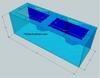 """Tsunami 180-Gallon 72""""Lx24""""Wx24""""H Rectangular Acrylic Aquarium Setup"""