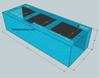 """Tsunami 350-Gallon 96""""Lx36""""Wx24""""H Rectangular Acrylic Aquarium Setup"""