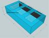 """Tsunami 440-Gallon 96""""Lx48""""Wx24""""H Rectangular Acrylic Aquarium Setup"""