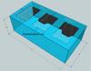 """Tsunami 535-Gallon 96""""Lx48""""Wx30""""H Rectangular Acrylic Aquarium Setup"""