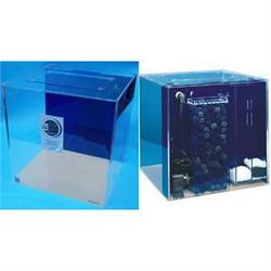 "Clear-for-Life 25-Gallon 18""Lx18""Wx18""H Cube Acrylic Uniquarium"