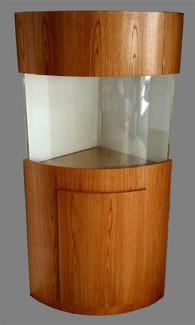 "Tsunami 135-Gallon 36""Lx36""Wx30""H Quarter Cylinder Acrylic Aquarium Setup"