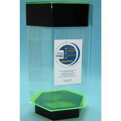 Clear-for-Life DayGlo 4-1/2 Gallon Hexagon Acrylic Fish Tank