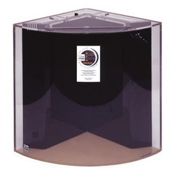 "Clear-for-Life Quadra 50-Gallon 24""Lx24""Wx24""H Quarter Cylinder Acrylic Fish Tank"