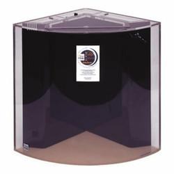 "Clear-for-Life Quadra 50-Gallon 24""Lx24""Wx24""H Quarter Cylinder Acrylic Uniquarium"
