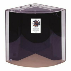 "Clear-for-Life Quadra 60-Gallon 24""Lx24""Wx30""H Quarter Cylinder Acrylic Fish Tank"