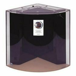 "Clear-for-Life Quadra 60-Gallon 24""Lx24""Wx30""H Quarter Cylinder Acrylic Uniquarium"