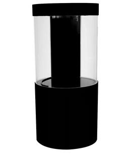 Pro Cylinder 125 Gallon Acrylic Setup Black