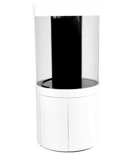 Pro Cylinder 125 Gallon Acrylic Setup White