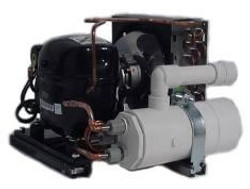 TradeWind 1.5-HP 220v Inline Commercial Chiller with Low Temperature Package 3 Barrel Evap