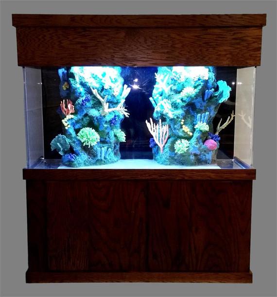 """Tsunami 350-Gallon 72""""Lx36""""Wx36""""H Rectangular Acrylic Aquarium Setup"""