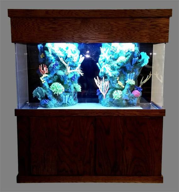 """Tsunami 390-Gallon 72""""Lx30""""Wx48""""H Rectangular Acrylic Aquarium Setup"""