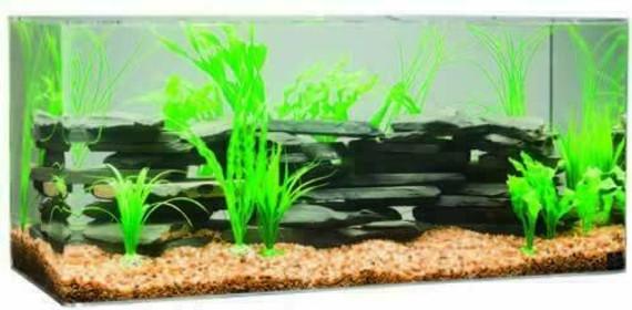 "SeaClear 240-Gallon 96""Lx24""Wx24""H Rectangular Acrylic Fish Tank"