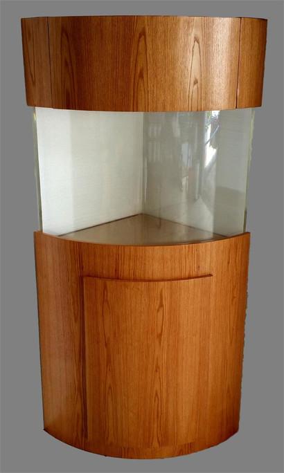 "Tsunami 110-Gallon 36""Lx36""Wx24""H Quarter Cylinder Acrylic Aquarium Setup"