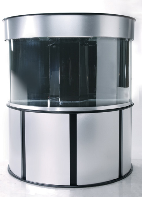 "Clear-for-Life 100-Gallon 48""Lx24""Wx24""H Half Cylinder Acrylic Aquarium Setup"