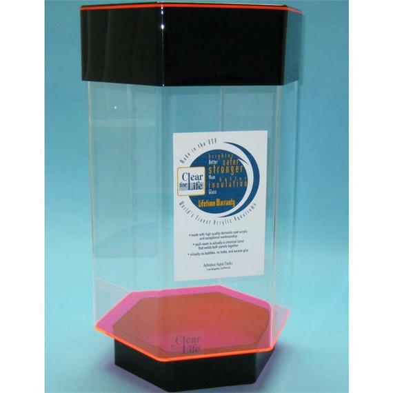 Clear-for-Life DayGlo 6-Gallon Hexagon Acrylic Fish Tank