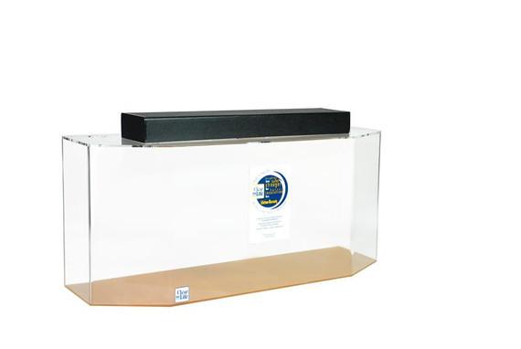 "Clear-for-Life Flat Back Hexagon 48""L x 15""W x 24""H 75 Gallon Aquarium"