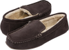 Ruby + Ed Mens Bear Suede Moccasin Slipper