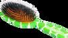 Rock & Ruddle Green Polka Dot Hairbrush