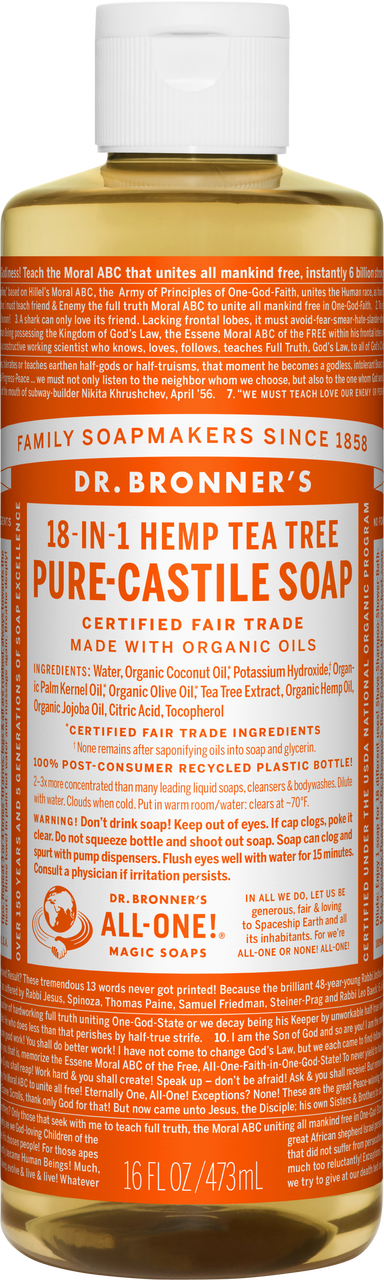 Dr Bronner 18-in-1 Hemp Tea Tree Pure-Castile Soap