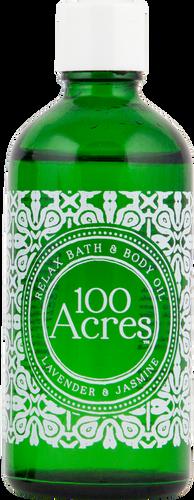100 Acres Lavender & Jasmine Relaxing Bath & Body Oil - 100ml