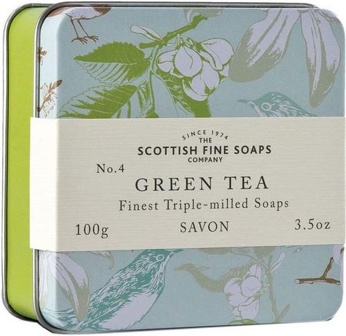 Scottish Fine Soaps Vintage Green Tea Soap Tin