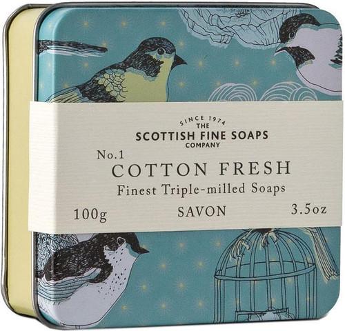 Scottish Fine Soaps Vintage Cotton Fresh Soap Tin