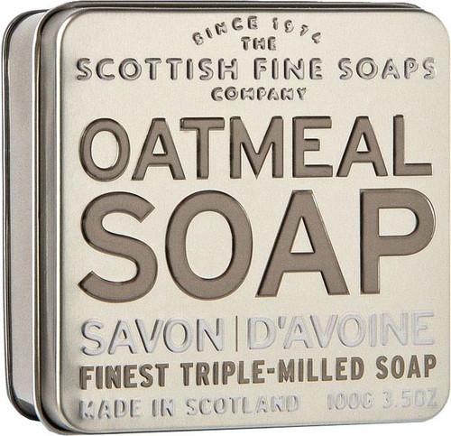 Scottish Fine Soaps Exfoliating Oatmeal Soap Tin - 100g