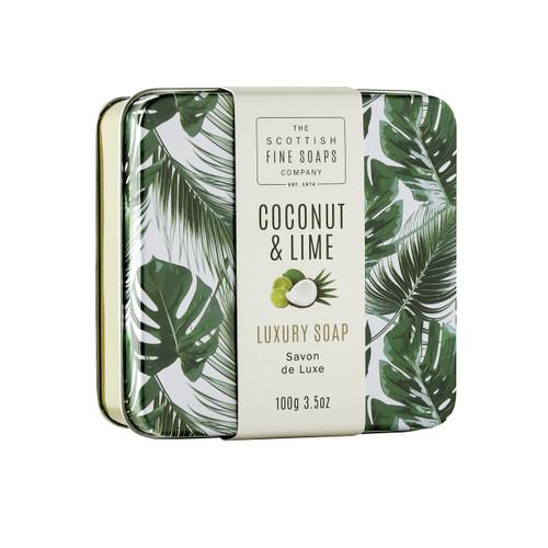 Scottish Fine Soaps Coconut & Lime Soap in a Tin
