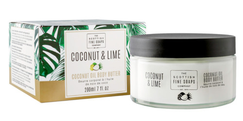 Scottish Fine Soaps Coconut & Lime Coconut Oil Body Butter
