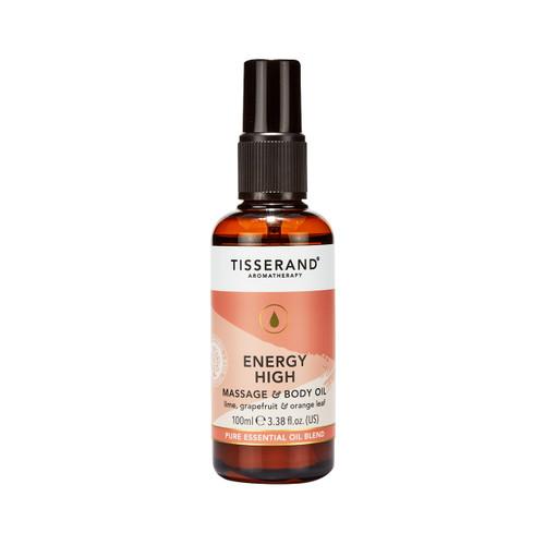 Tisserand Aromatherapy Energy High Massage & Body Oil - 100ml