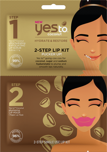 Yes To Coconut 2-Step Pucker Up Lip Kit