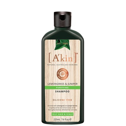 A'kin Lemongrass & Juniper Purifying Shampoo - 225ml