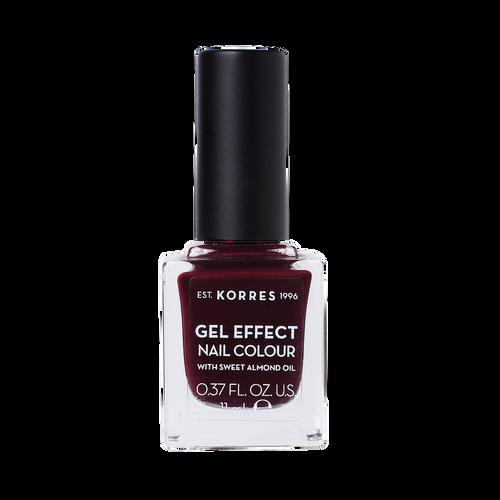 Korres Gel-Effect Nail Colour 57 Burgundy Red