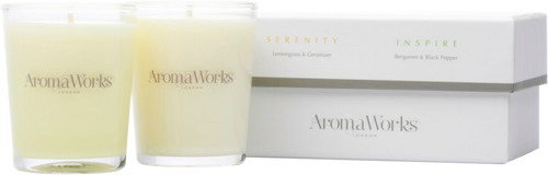 AromaWorks Serenity & Inspire Candle Duo - 2 x 75g