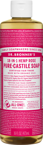 Dr Bronner's 18-in-1 Hemp Rose Pure-Castile Soap - 946ml