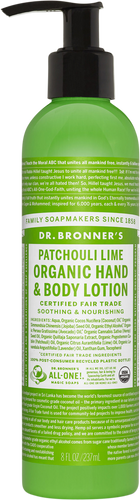 Dr Bronner's Organic Patchouli Lime Hand & Body Lotion