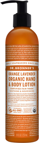 Dr Bronner's Organic Orange Lavender Hand & Body Lotion